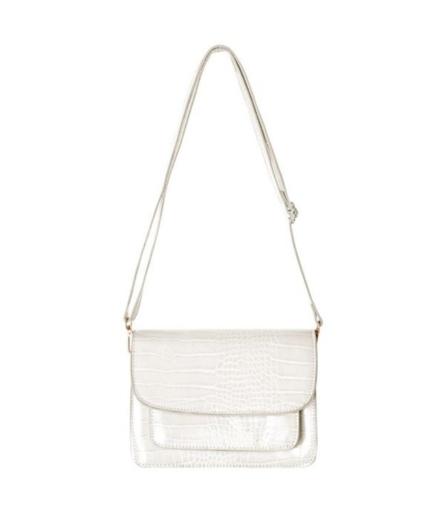 Sage Croco Bag / White