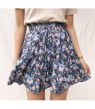 Ziya Flower Skirt / Blue