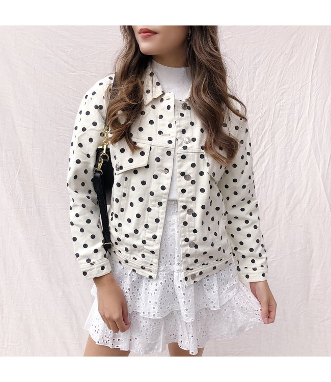 Beau Dots Denim Jacket / Off White
