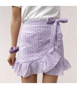 Viola Embroidered Skirt / Lilac