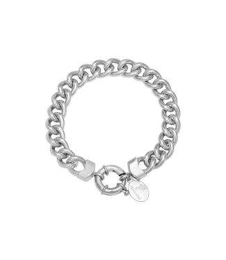 Silver Chunky Chain Ring Bracelet