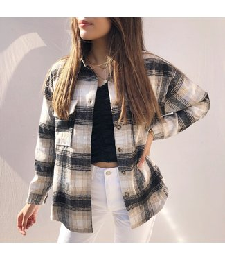 Isadora Checkered Blouse / Grey