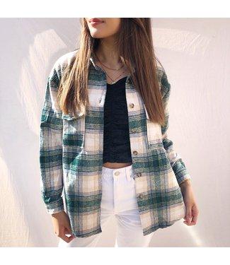 Isadora Checkered Blouse / Green