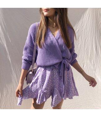 Romeia Cheetah  Skirt / Lilac