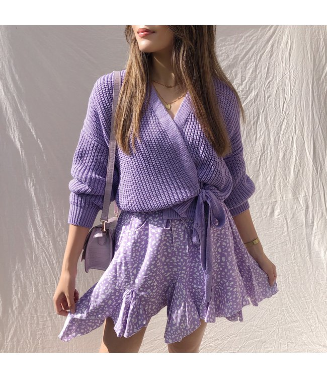 Laurie Wrap Cardigan / Lilac