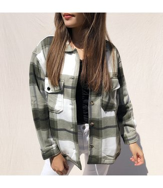Sammi Checkered Blouse Jacket / Army