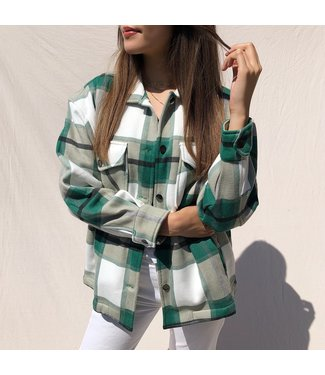 Sammi Checkered Blouse Jacket / Green