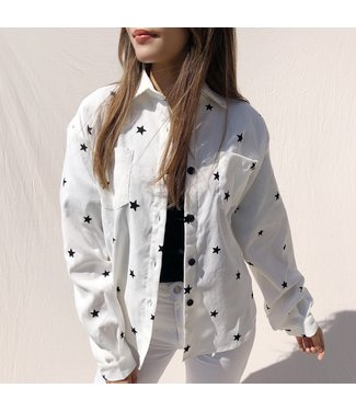 Nova Printed Star Blouse / Off White