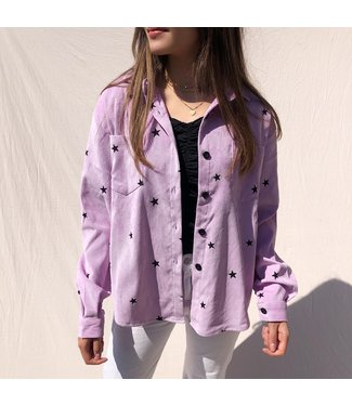 Nova Printed Star Blouse / Lilac