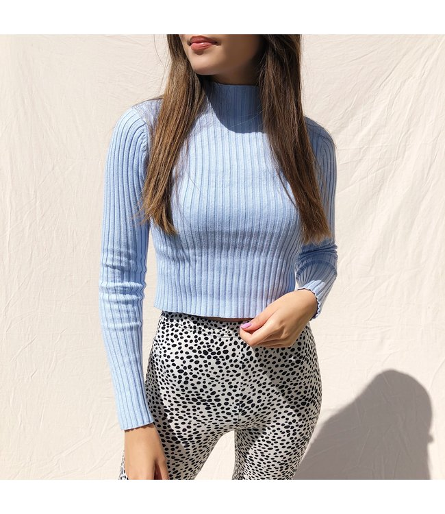 Mirai Ribbed Crop Top / Blue