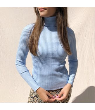 Elin Ribbed Top / Blue