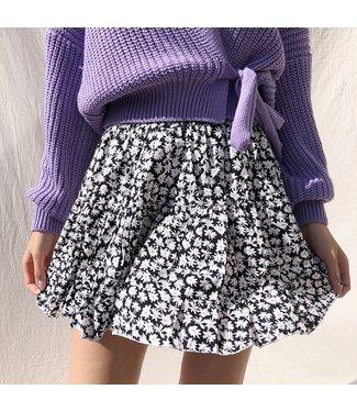Domina Flower Skirt / Black