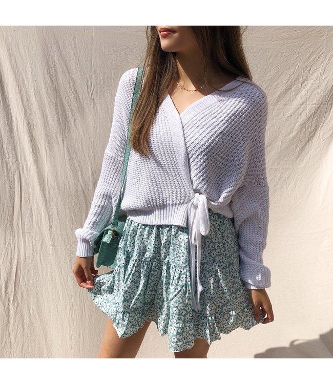 Domina Flower Skirt / Mint Green