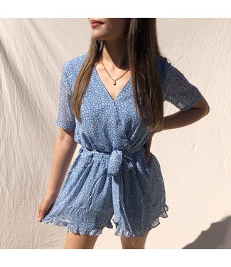 Xari Leopard Playsuit / Blue