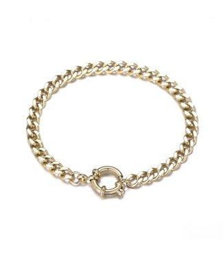 Gold Dainty Chain Ring Bracelet
