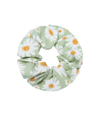 Cara Flower Scrunchie / Green
