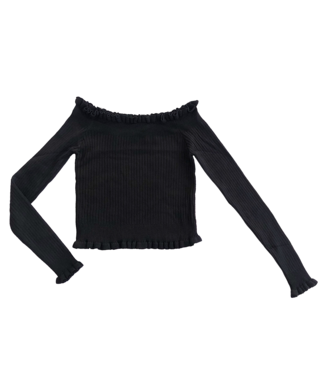 Anthea Off Shoulder Top / Black