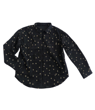 Stella Star Print Blouse / Black