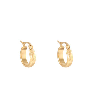 Gold Leo Print Hoop Earrings