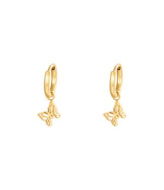 Gold Dainty Butterfly Earrings