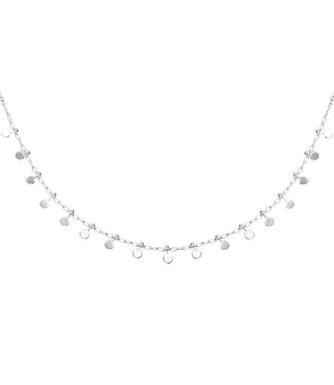Silver Confetti Necklace