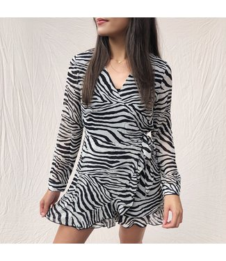 Lillia Zebra Playsuit / Grey