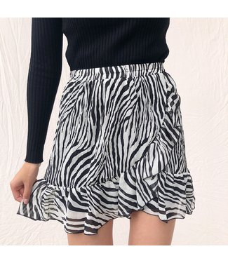 Yaeli Zebra Skirt / Grey