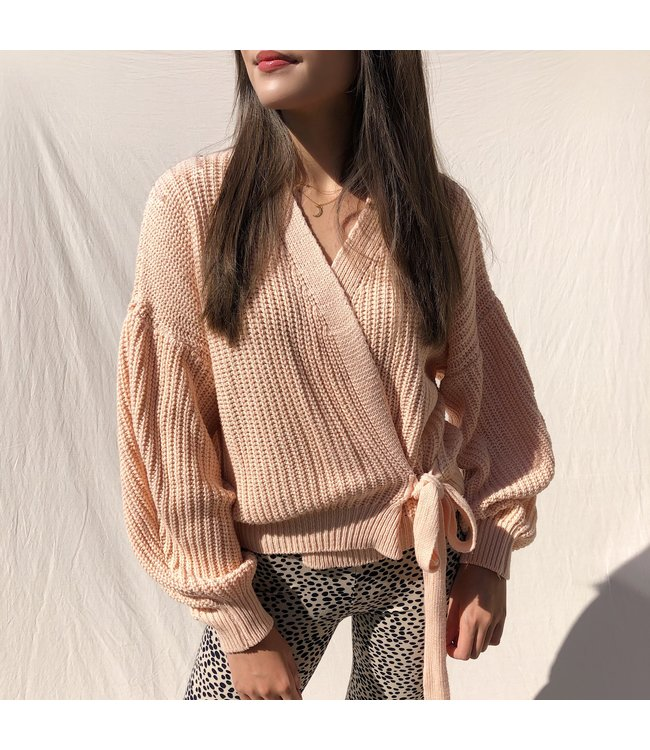 Laurie Wrap Cardigan / Light Peach