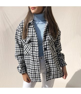 Gianna Pied De Poule Jacket / Grey