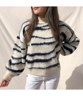 Yura Tiger Knit Sweater / Beige