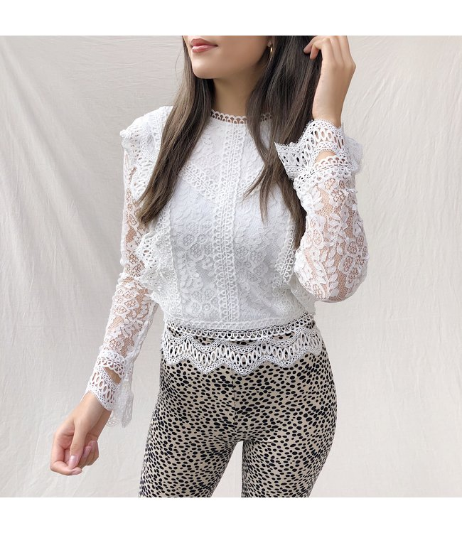 Clementine Lace Top / White