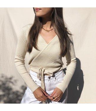 Zoila Wrap Cardigan /  Beige