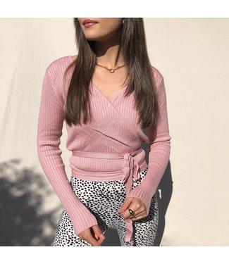Zoila Wrap Cardigan / Dusty Pink