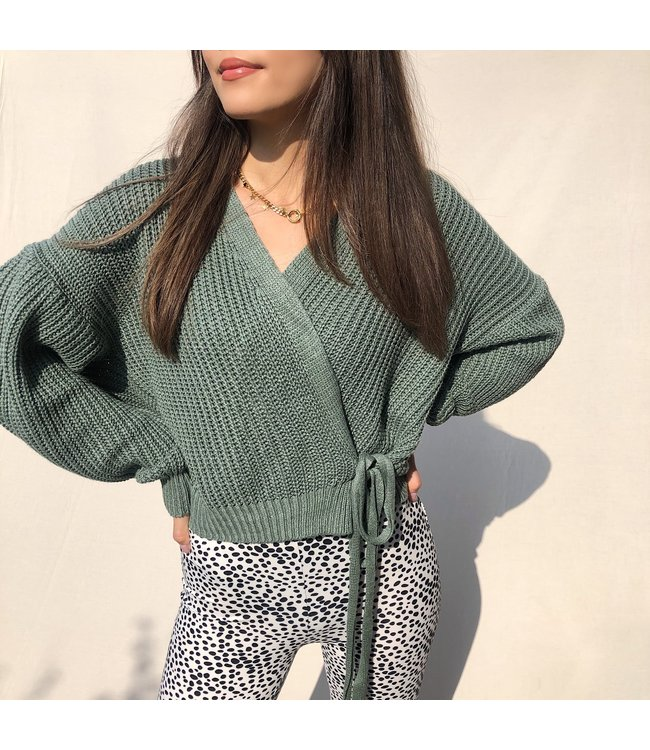 Laurie Wrap Cardigan / Army