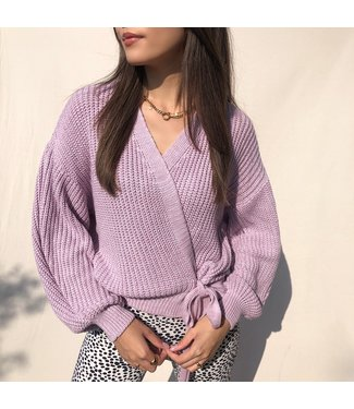 Laurie Wrap Cardigan / Light Lilac