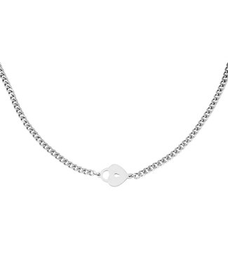 Silver Locked Heart Necklace