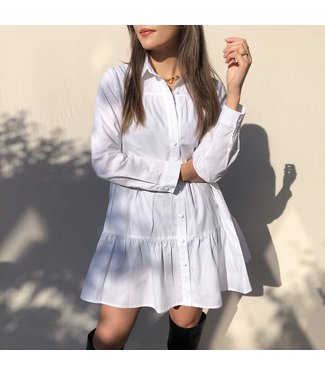 Rosella Blouse Dress / White