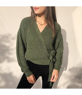 Laurie Wrap Cardigan / Army Melange