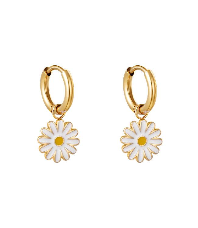 Gold Sweet Daisy Earrings