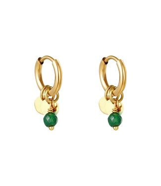 Gold Cute Coins Earrings