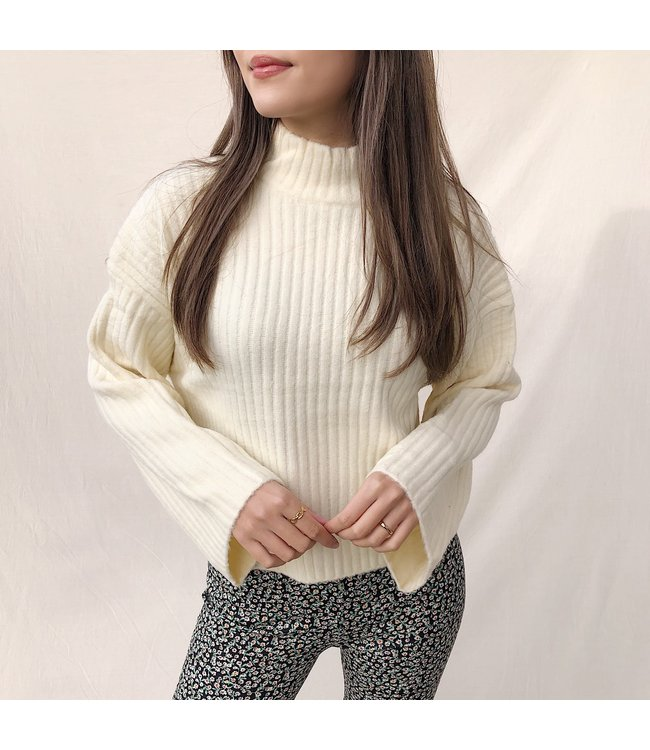 Jomei Ribbed Sweater / Beige