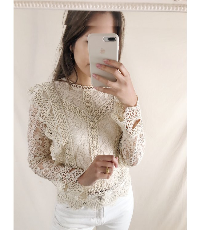 Clementine Lace Top / Cream