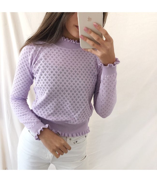 Katie Ruched Top / Lilac