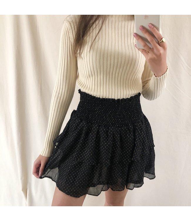 Myla Dots Skirt / Black