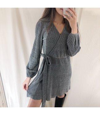 Nini Glitter Dress  / Silver