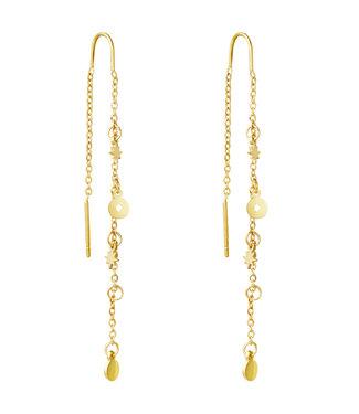 Gold Stardust Dangle Earrings