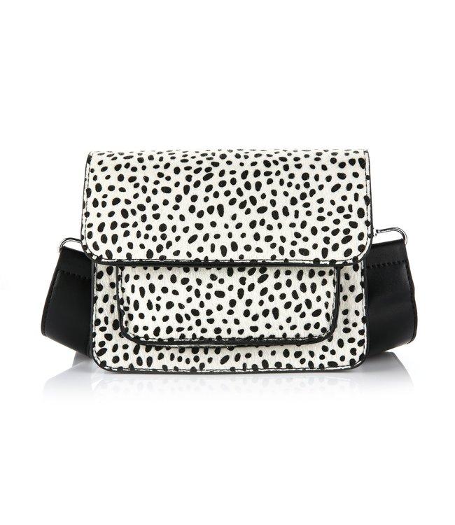 Noralee Cheetah Bag / White