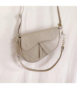 Lulu Moon Bag / Dark Beige
