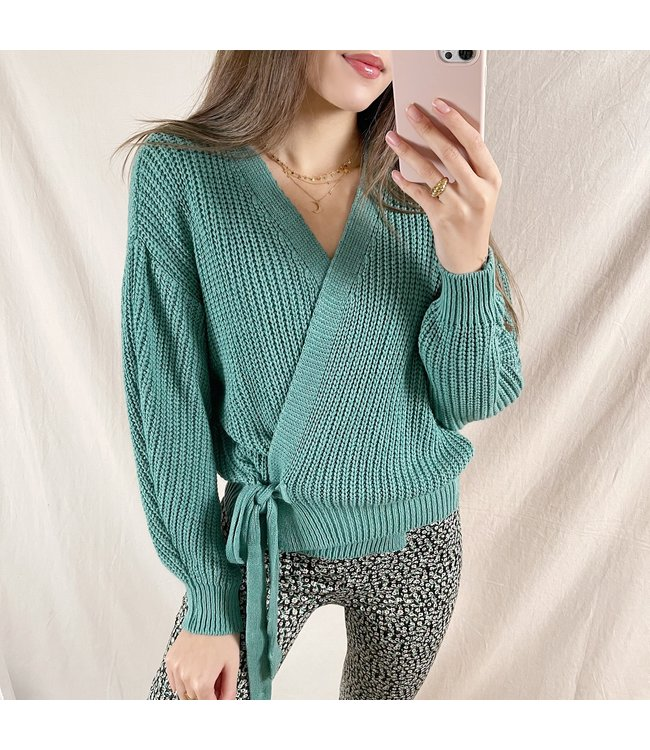 Laurie Wrap Cardigan / Sea Green