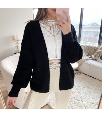 Elissa Knit Cardigan / Black
